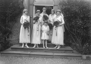 Bishop of Kingston married to the Hon Elaine Orde Powlett at Wensley. The bridesmaids