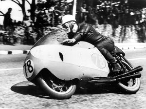 Bob McIntyre, who had already won the Junior TT in the Isle of Man, went on to