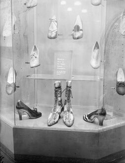 Boots worn by Queen Alexandra at a fancy dress ball, on show at a fair. 8 October