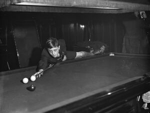 Boys Billiards Championship at the Burwat Hall, Soho Square Jack Briggs, aged