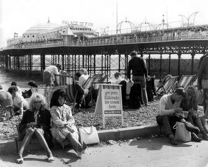 Brighton Sussex The Beach and Palace Pier