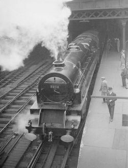 Britain 's first turbine driven locomotive on view at Euston