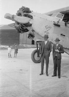 1920s/air flying machines/british atlantic flight attempt st raphael arrives