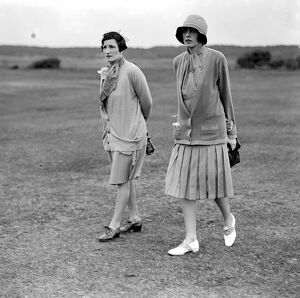 Buck's Club Golf at Le Touquet. Countess of Ancaster and Mrs Euan Wallace. 5 July 1927