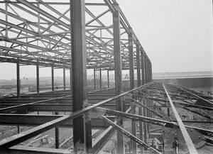 The building of the Ascott Gas, Water, Gesyers Works Ltd, Neasden. 1937