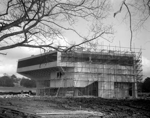 The building of The Festival Theatre Chichester in Sussex 31 January 1962