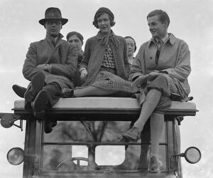 Bullingdon Club Point To Point at Oddington. Mr John Ward, Miss Nancy Beaton