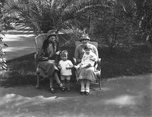 The Cairo Season, Egypt. Left to right ; Mrs Philip Taylor with her daughter Paula