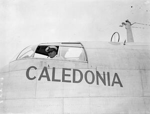 'Caledonia' takes off from Southampton on first experimental transatlantic flight