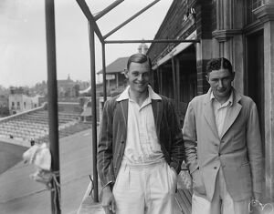 Cambridge University cricketer' s. N G Wykes ( left ) and M J Turnball. June 1928