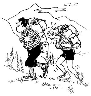 cartoons sax/cartoon sax couple hiking usually paying little