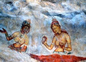 CAVE PAINTINGS Paintings of maidens (cloud maidens, or lightening princesses)