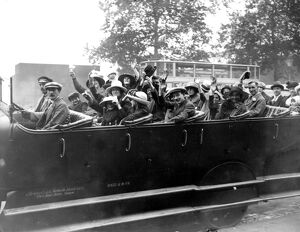 A charabanc of holidaymakers 1921