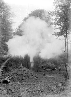 Charcoal burning for the trenches in the New Forest