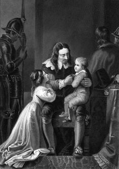 Charles 1st taking leave of his children
