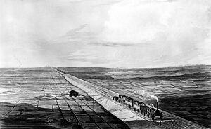 Chat Moss threatened the completion of the Liverpool and Manchester Railway, until