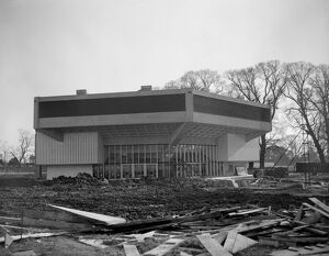 Chichester Festival Theatre under construction in Sussex 15 February 1962