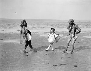 Children Through the Centuries. Rehearsing a pageant on Weymouth Sands , Dorset