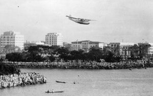 China clipper , arrives at Manilla after first trans pacfic air mail flight