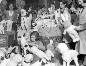 Christmas, 1931 A busy scene at the toy works of Messrs Burman, Whitecross Street, City