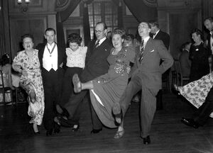 A Christmas party in Nutfield Centre 1948 dance / dancing / party season / celebration