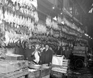 Christmas poultry at Leadenhall Market. 19 December 1924
