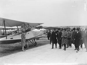 Civil aviation display for King of Afghanistan at Croydon aerodrome. 21 March 1928