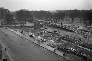 The construction of the overpass - just one section of the wider Marble Arch - Park