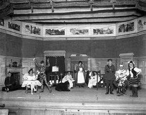 sussex life/convalescent soldiers pantomime eastbourne officers
