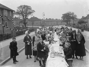 Coronation teas in Mottingham, to celebrate the coronation of King George VI