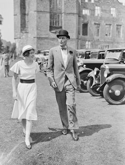 Cowdray Park Polo Week Lord Barnby and Hon Daphne Pearson 1933