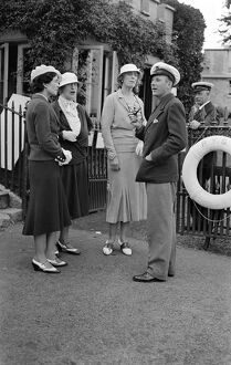 At Cowes, Isle of Wight Lady Dashwood, Mrs Oglander (third from left) Lady Baring