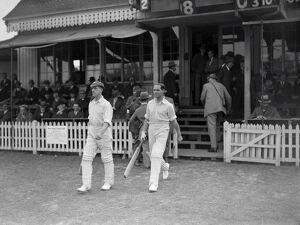 Cricket at Tonbridge, Kent versus Yorkshire Herbert Sutcliffe and Percy Holmes