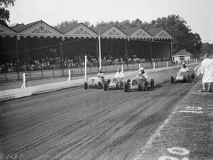 The Crystal Palace miniature car racing grand prix. The start of the race. 1938