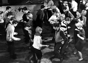 A dance floor full of young people dancing The Twist 9 April 1966 dance / dancing