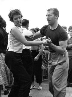 Dancing the jive to jazz on the river 1955 dance / dancing / party season / celebration