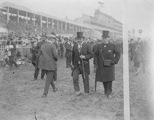 Derby day at Epsom Mr Richmond Marsh ( Kings ' s trainer ) and Lord Marcus Beresford