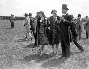 'Derby Day' at Epson. Lady Hillingdon, Mrs and Captain Euan Wallace. 1928