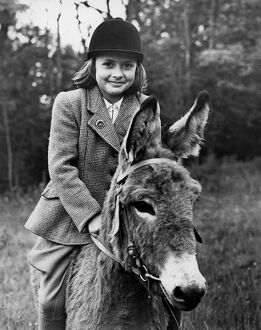 Donkey - lightweight jockey Geraldine Hinson (9) of Jarvis Brook, Sussex, will be