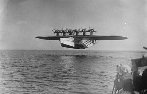 Dornier Do X the largest, heaviest, and most powerful flying boat in the world