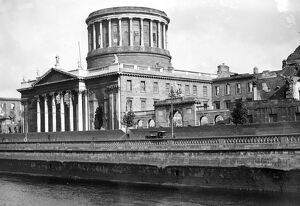 Dublin. The Four Courts. August 1923 Note bomb damage still in place from the