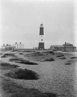 Dungeness light house in Kent. 17 January 1939