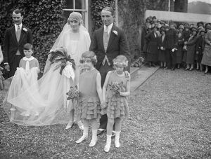 The Earl of Westopelands 's brother weds. The wedding took place at Hollywell