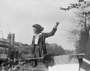 East Islington election Mr Barnard, Miss Christabel Pankhurst 20 October 1917