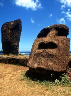 Easter Island - Statue groups on the island - their date and purpose is unknown