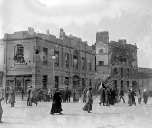 Easter Rising (originally captioned The Dublin rebellion) Liberty Hall after