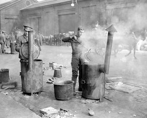 Easter Rising (originally captioned The Dublin rebellion) British soldiers cooking
