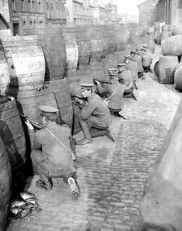 Easter Rising (originally captioned The Dublin rebellion) The British Army sniping