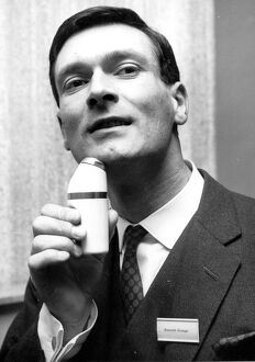 Elegant Shave Kenneth Grange of North London uses cordless electric shaver 22 May 1963