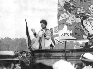 Emmeline Pankhurst, speaking at Hyde Park London - May 1917